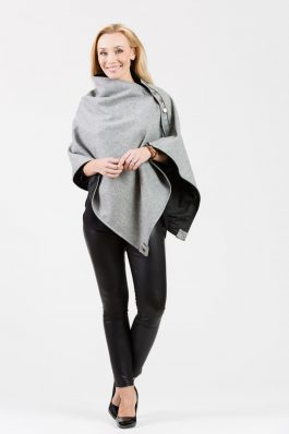 LISA Original Cape – Grey wool