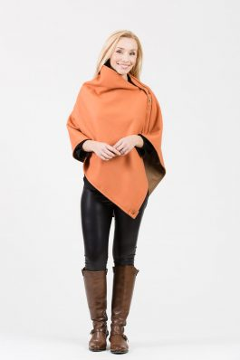 LISA Original Cape – Burned orange wool