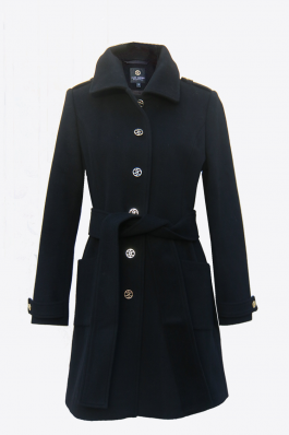 Coat Jackie – Black cashmere/wool